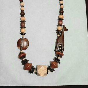 ♥︎ Vintage Wooden Beaded Necklace